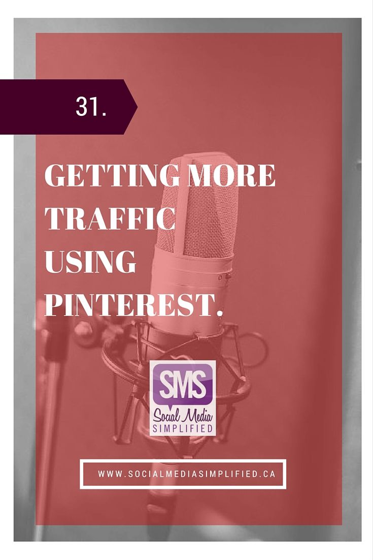 How to use Pinterest for business to get more traffic, including free tools that can help you use Pinterest more effectively | Social Media Simplified Podcast by Lara Wellman Digital Marketing