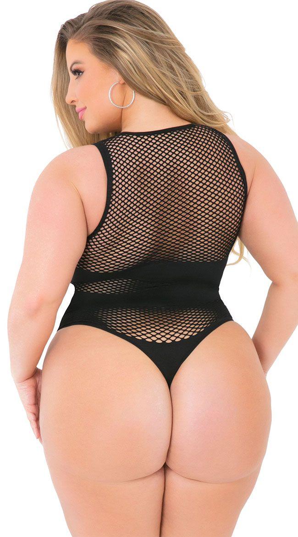 44a6280ce Plus Size X-Rated Seamless Bodysuit, plus size fishnet bodysuit - Yandy.com