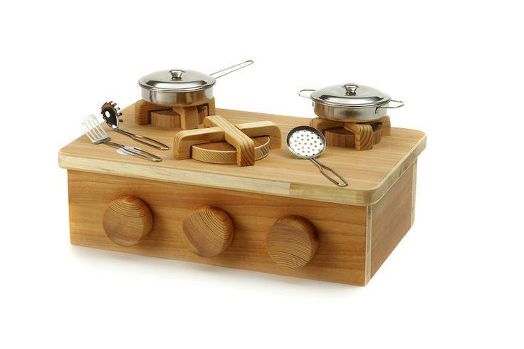 Cucina in legno - giocattolo fatto a mano di GiochiLegnoBambini su Etsy