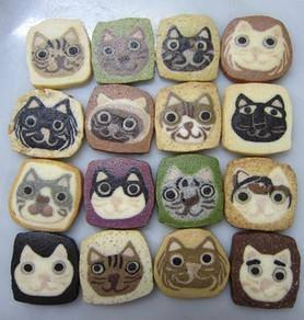 金太郎クッキーのonnea(オンネア) ちっちゃな猫顔クッキー Tiny cat's face cookie :http://kintaro-cookie.com/?pid=33838581