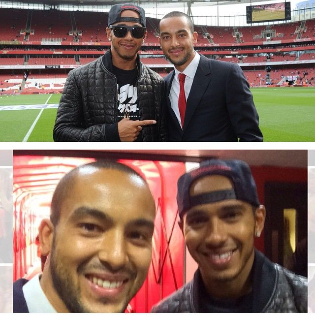 With @lewishamilton at game today #twins #speedmatters