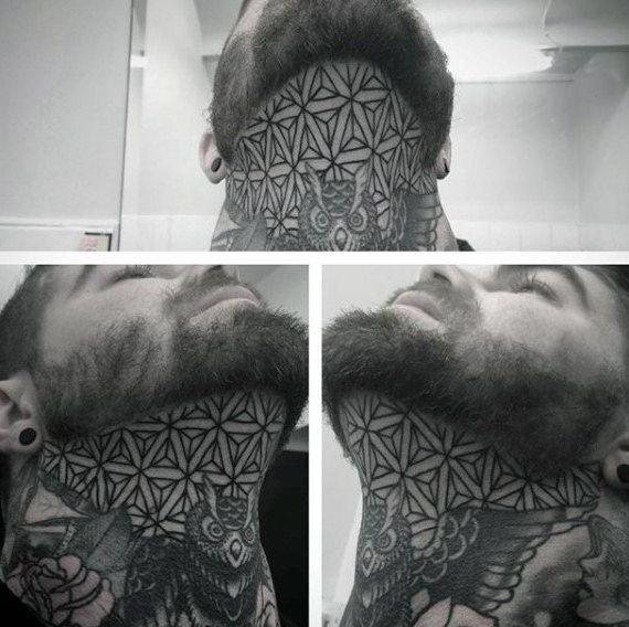 geometric throat tattoos - 1000+ Geometric Tattoos Ideas