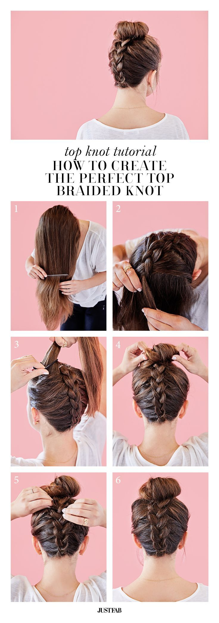 cool We think this braid is top knot! Learn how to create the perfect braided top kno... by http://www.jr-fashion-trends.top/braids/we-think-this-braid-is-top-knot-learn-how-to-create-the-perfect-braided-top-kno/