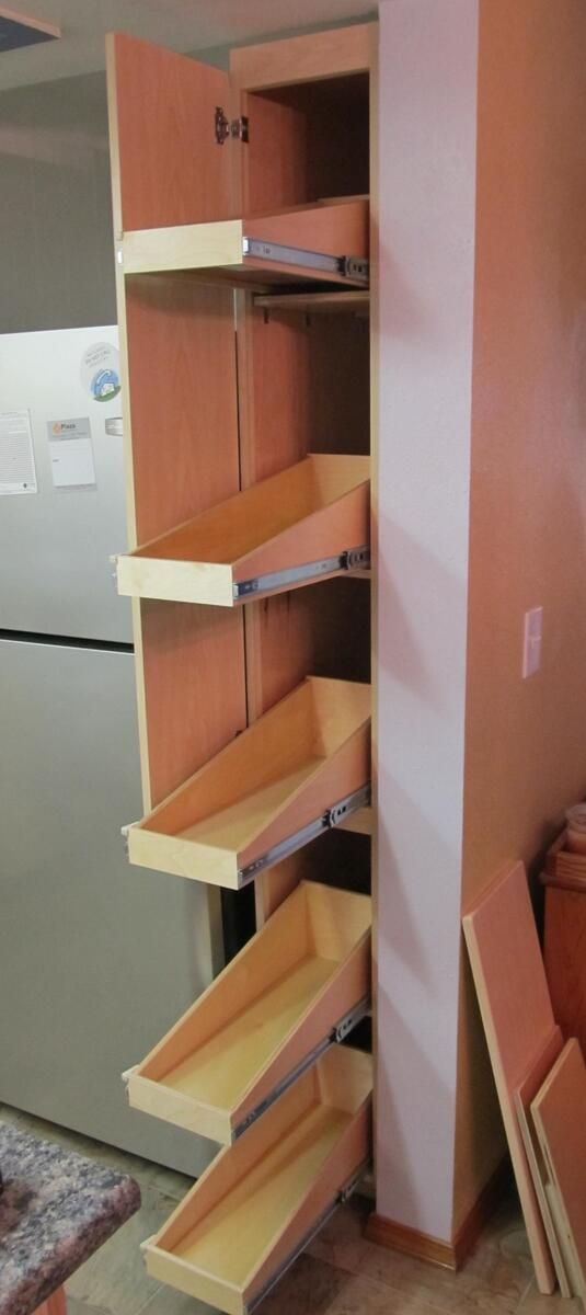 Narrow Pull Out Shelves From Shelfgenie Rooms