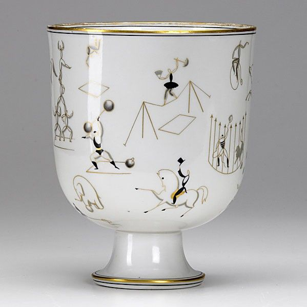 GIO PONTI; RICHARD GINORI; Glazed porcelain vase