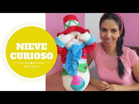 NIEVE CURIOSO| ARTE JESICA|MUÑEQUERIA NAVIDEÑA - YouTube