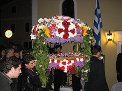 Good Friday : The saddest day in Christianism.This is the Greek Orthodox liturgical on a day that is never sunny (coincidence?). http://en.wikipedia.org/wiki/Epitaphios_(liturgical)