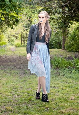 Asymmetric lace skirt by Jennie Loof