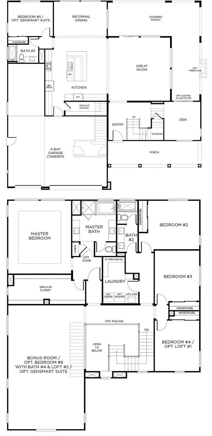 Floor Plan-3 | The Flagstone Neighborhood in Beaumont, CA | Large New Homes with 6-Bedrooms, 4-Bathrooms, 4-Bay Tandem Garage, (3,753sf) View Online