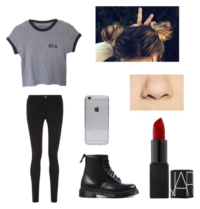 """""""Untitled #27"""" by skirmantesatkute ❤ liked on Polyvore featuring Frame Denim and Dr. Martens"""