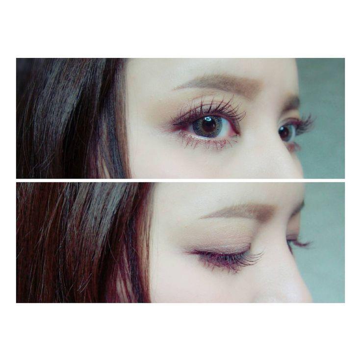 「. . アイシャドウは淡いベージュのみ. マスカラとアイライナーで ピンクブラウンをON♡ . #pinkbrown#makeup #eyeshadow#lunasol #mascara#canmake #eyeliner#loveliner . #アイシャドウ#ルナソル #マスカラ#キャンメイク…」