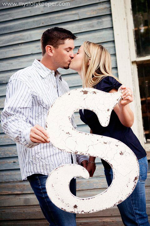 """take a picture with the """"s"""", then have it framed and placed on the guestbook table. the """"s"""" will be the guestbook!"""