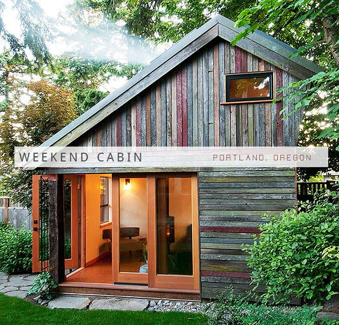 Weekend cabin backyard house portland oregon for the for Small weekend cabin plans