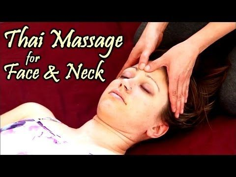 Lien Tran, LMT, demonstrates how to address the face, head and neck with Thai Massage. Jen Hilman models.