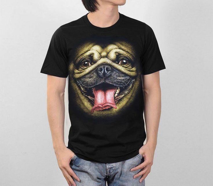 Pug Face T Shirt //Price: $45.47 & FREE Shipping //     #pets #dogsitting #ilovemydog #lovecats #petworld #lovedogs