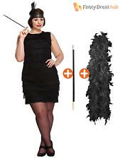 Ladies 1920s Flapper Costume Womens Charleston Gangster Fancy Dress Plus Size                                                                                                                                                      More