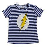 Go Flash Tee - Blue/White Stripe