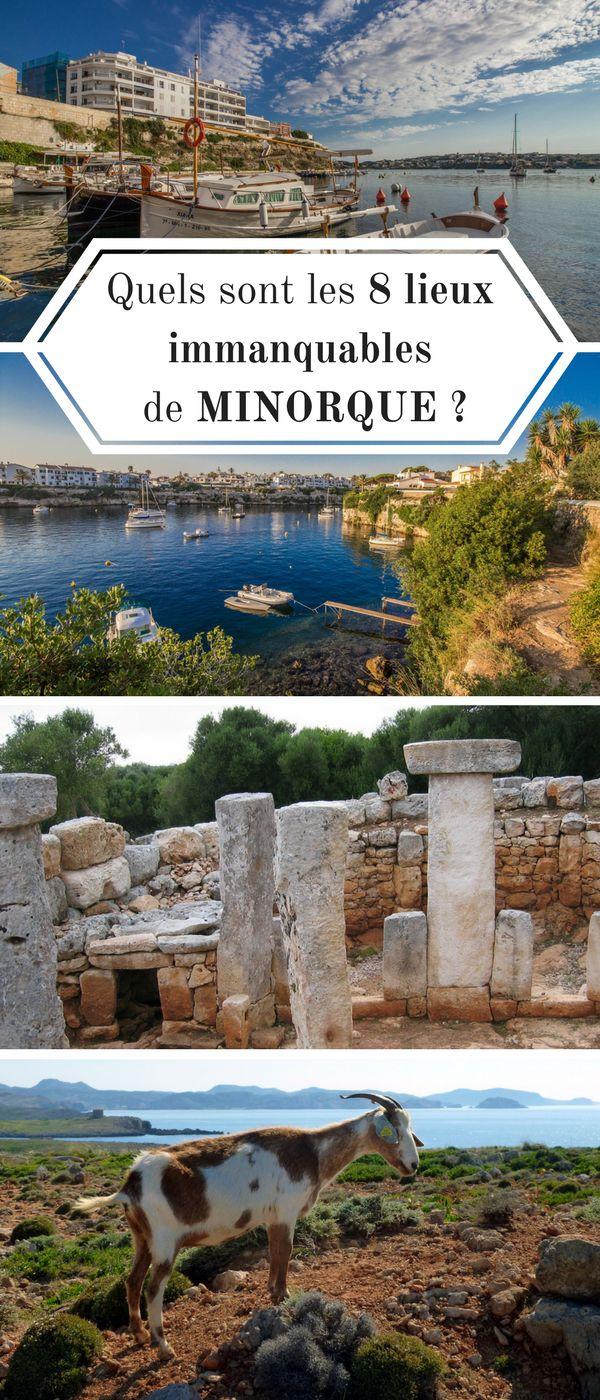 Quels sont les immanquables de Minorque ? Envie de vacances dans une destination loin des foules ? Minorque, île des Baléares, petite soeur de Majorque, saura combler les attentes de tout amoureux de la nature. #Voyage #Minorque #Menorca #Baléares