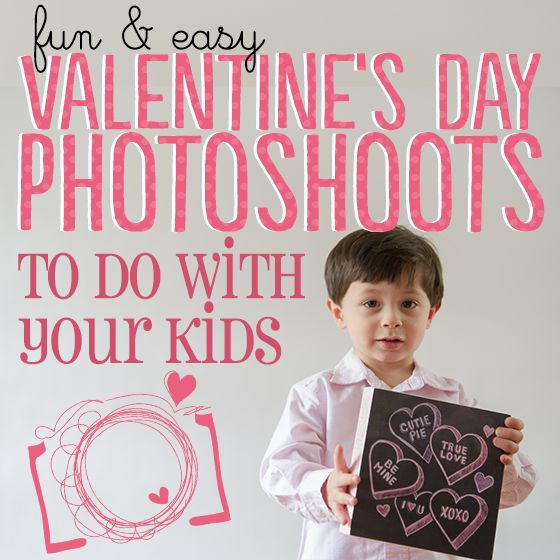 You needn't trek to a professional studio to get great photos of your kids during holidays. Save your money for professional photos during the big holidays and take your own Valentine's Day pictures for cards, Facebook, or just displaying around the house. Your kids will be more relaxed