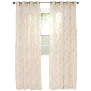 Lavish Home Andrea Taupe Polyester Curtain Panel 54 in. W x 108 in. L 63-208-108-T at The Home Depot - Mobile