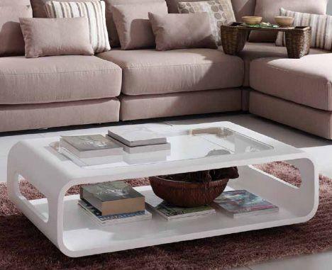 Ideas para decorar mesas de centro. Mesa de centro Curve de Kibuc