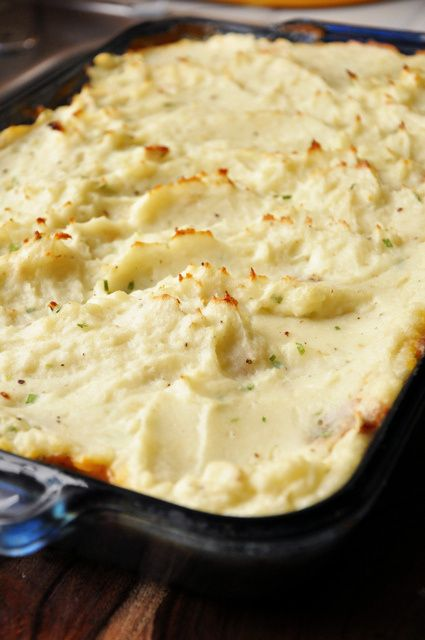 Baked Shepherd's Pie - this has the best mashed potatoes I've ever had!