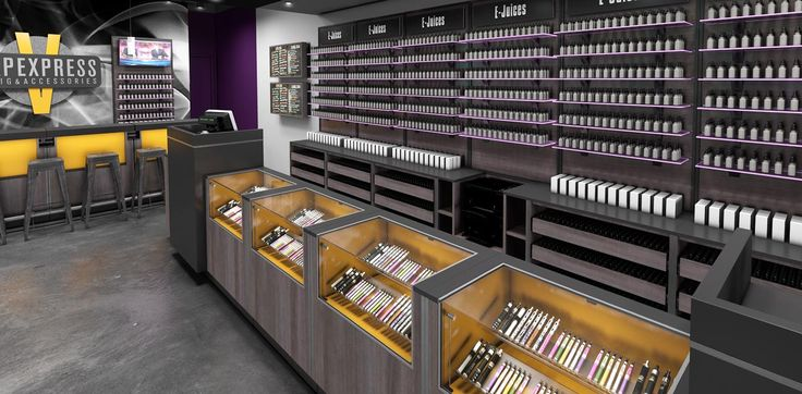 Vape Store Design Fixtures and Display Ideas (With images