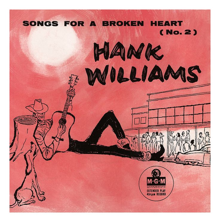 Songs for a Broken Heart (No. 2) – Hank Williams EP, 1958 – vintage album cover