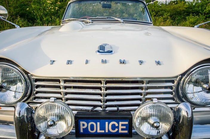 What is quite possibly the coolest police vehicle of all time, our colleagues at Petrolicious list this 1962 Triumph TR4 for sale.