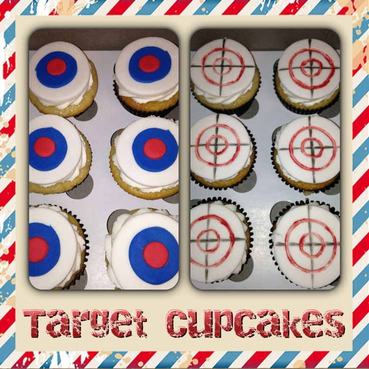 Target Cupcakes - laser tag party
