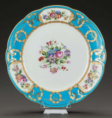 A Minton Sevres Style Floral And Gilt Plate Minton Stoke