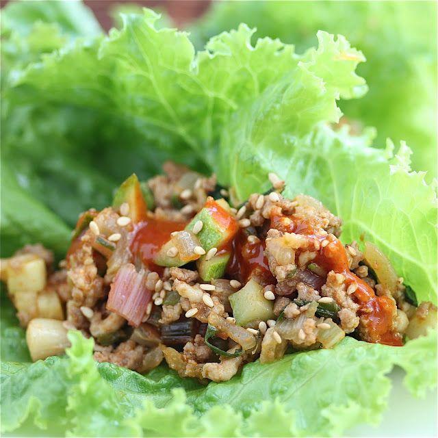 Summer Vegetable Korean Lettuce Wraps Recipe - Jeanette's Healthy LivingLettuce Wraps, Fun Recipe, Summer Vegetables, Lettuce Food, Vege Korean, Korean Lettuce, Food Healthy, Healthy Food, Jeanette Healthy