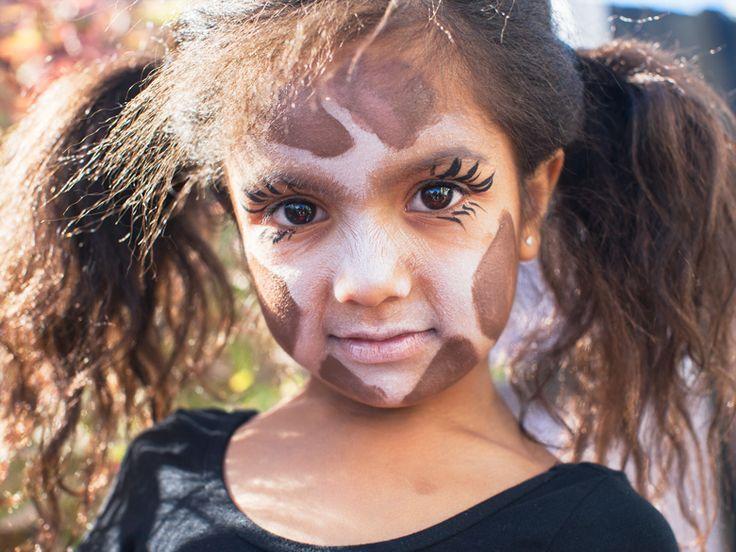 step-by-step giraffe face makeup   Easy Kids' Halloween ...