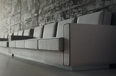 These sofas designed by Eero Saarinen for the Chicago University and produced by Matrix International is characterized by a rhythmic back that make it suitable for both the domestic and large waiting premises. Even this unpublished author's project was developed thanks to the original drawings, letters and other rare materials donated by the Eero Saarinen and Associates office archives to the Yale University Library.  #eerosaarinen #chicago #lawfaculty #modularseating #midcentury #greysofa