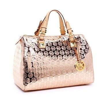 Michael Kors Rose Gold handbag!! I have this in black and LOVE it.