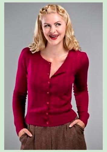 Emmy Design: The Cute As A Button Cardigan, Magenta