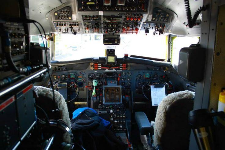 Air Chathams Convair Cockpit, Auckland Airport 2008