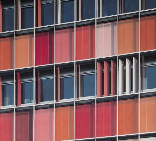 Colorful folding perforated panels, S&H in Berlin [058] | filt3rs