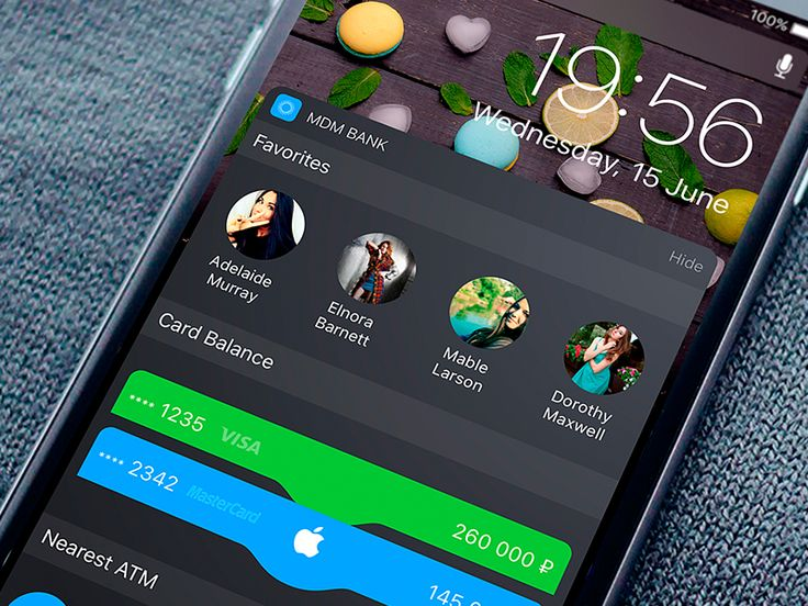 IOS 10 Banking Widget by ALEX BENDER   #Design Popular #Dribbble #shots