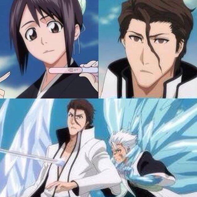LoL. Hinamori, Aizen, Hitsugaya