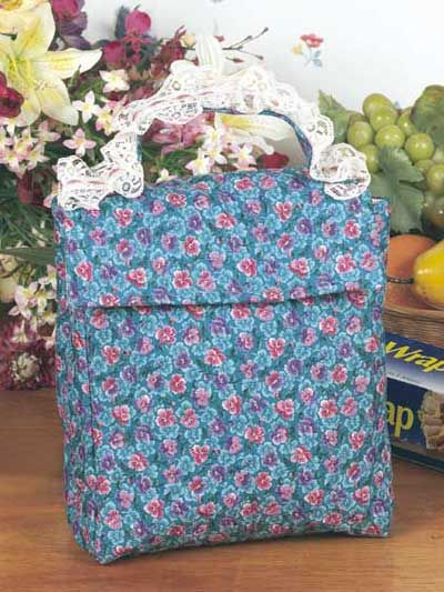 Quilted Lunch bag free pattern crafty gifts Pinterest Lunch Bags, Lunches and Lunch Bag ...