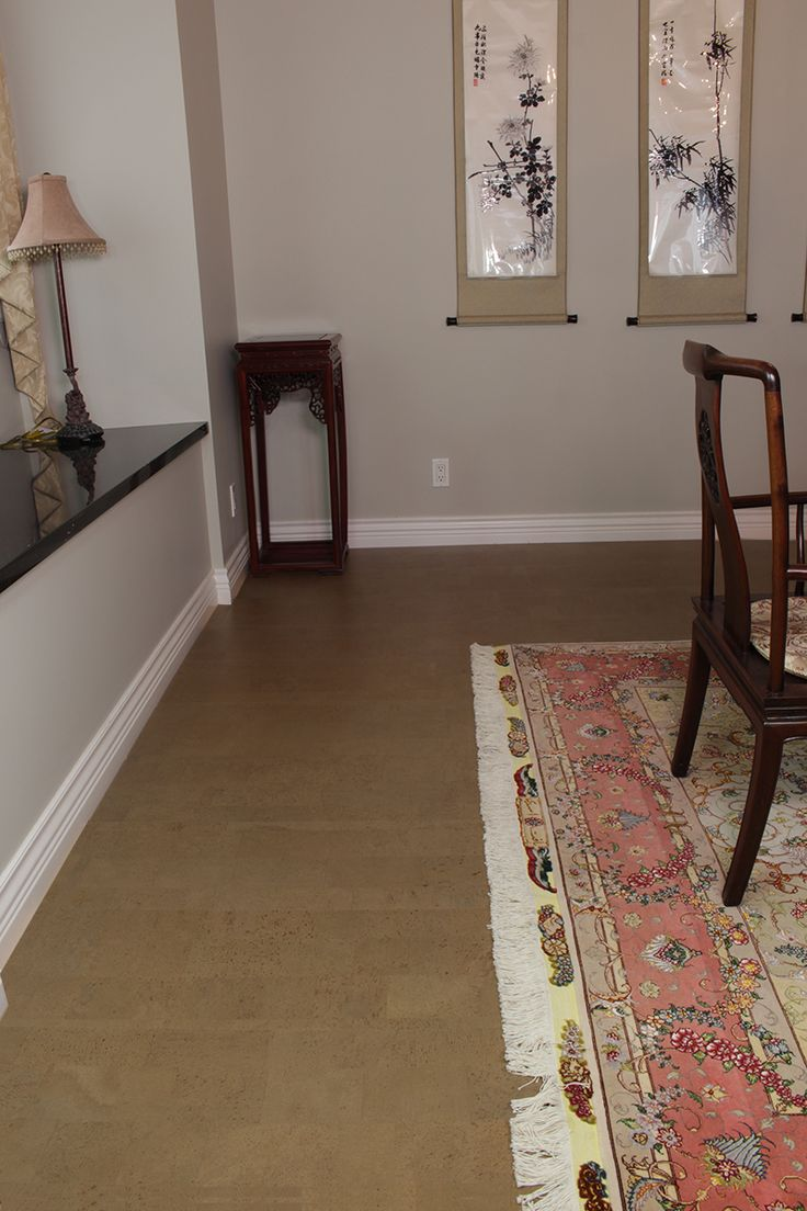 Grey Cork Floor - Taupe Leather Floating 21 sf/box gray-beige coupled with