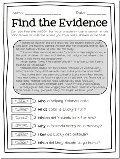 Super Text Detectives- Find text evidence and color-code it to prove your answers! This is REALLY helping my students answer questions more carefully! $