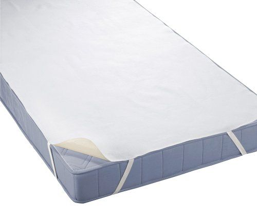 biberna 808315/001/146 Wasserundurchlässige Molton Matratzenauflage, nach Öko-Tex Standard 100, ca. 70 x 140 cm, Farbe: weiß