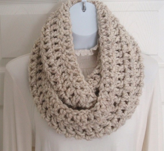 Crochet cowl neck warmer