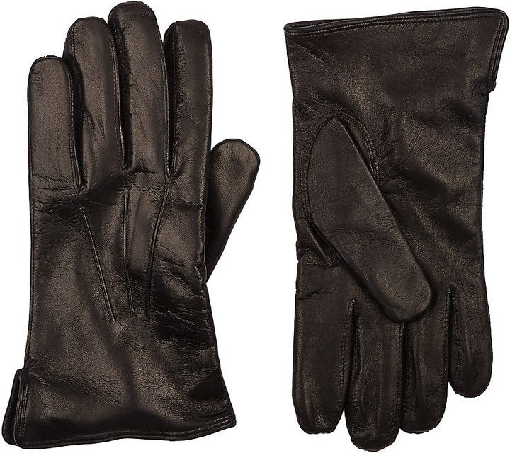Barneys New York Men's Cashmere-Lined Gloves-BLACK
