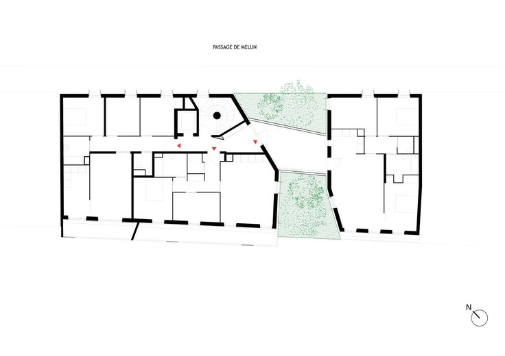This project consists of 15 social dwellings in the Paris inner city.