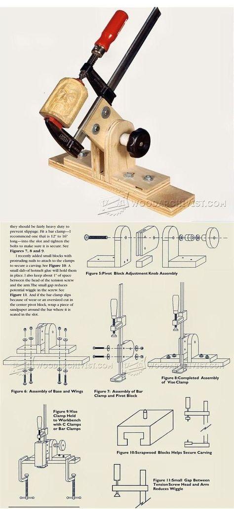 Carving Vise Plans - Wood Carving Patterns and Techniques   WoodArchivist.com