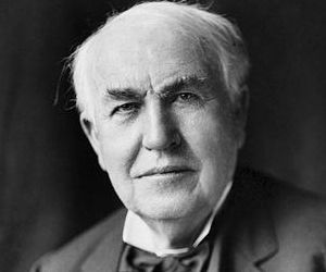 Thomas Edison A prolific inventor and a leading businessman, he was the mastermind behind numerous discoveries and innovations that helped build America's economy. It was his intelligence, ideas, hard work and perseverance that made him the front-runner in America's first technological revolution. Edison is reported to have set the stage for the modern electric world.