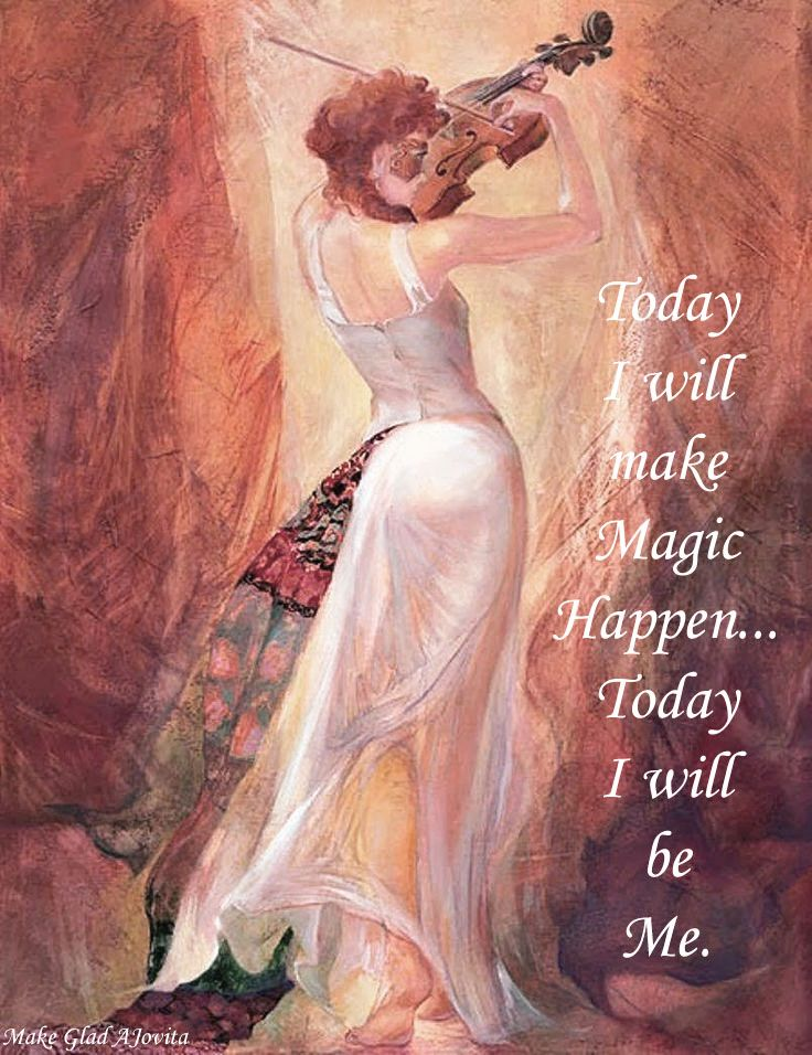 There is Magic in every day when you allow yourself to be You ~ created by Jovita